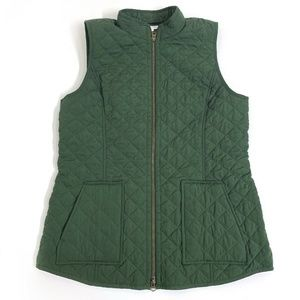 J Jill Quilted Vest Jacket Womens Size Medium Tall